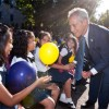 Mayor Emanuel Rings in the First Day of School at UNO Octavio Paz
