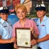 Topinka Saluda a la Guardia de Honor de Metro East