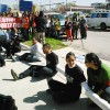 Undocumented Illinois Immigrants Block Broadview Detention Center Road