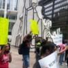Protesta Cicero Youth Project Contra Cortes Federales