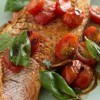 Snapper with Roasted Grape Tomatoes, Garlic, and Basil