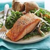 Pan-Seared Salmon with Kale and Apple Salad
