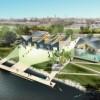 El Alcalde, el Distrito de Parques de Chicago y el Concejal Solís Ponen la Primera Piedra de la Casa-Bote de Bridgeport