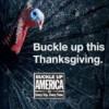 Celebre la Tradición del Día de Gracias Usando el Cinturón de Seguridad y Manejando Sobrio