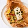 Steamed Fish with Couscous Parcels