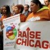 Fast-Food Workers Wage Sit-In at Rauner's Chicago Office Following Veto of $15/hour for 2.3 Million IL Workers