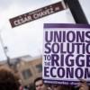 Protesta Masiva por $15 el Día del Trabajo