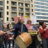 Trump Visits Chicago, Thousands Protest