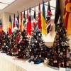 Pappas' Office Decorated with More Than 90 Christmas Trees and Holiday Displays
