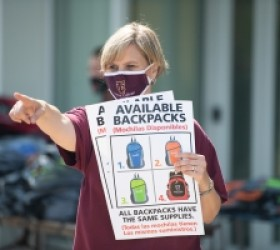Triton College Distributed Over 1,000 Backpacks During Annual Backpack Give Back Event